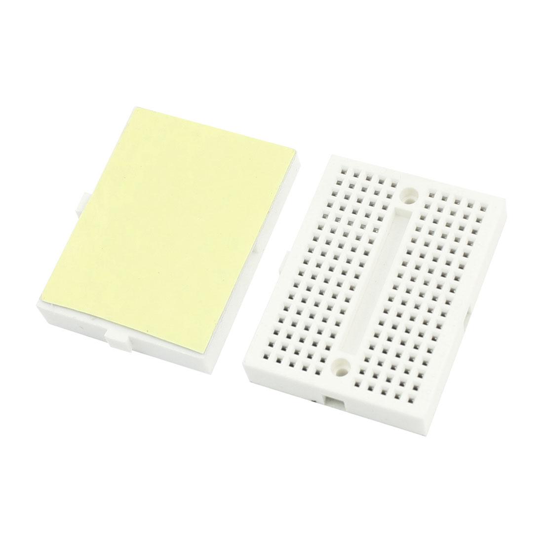 2pcs White Universal 170 Tiepoint Electronic DIY Solderless Breadboard SYB-170
