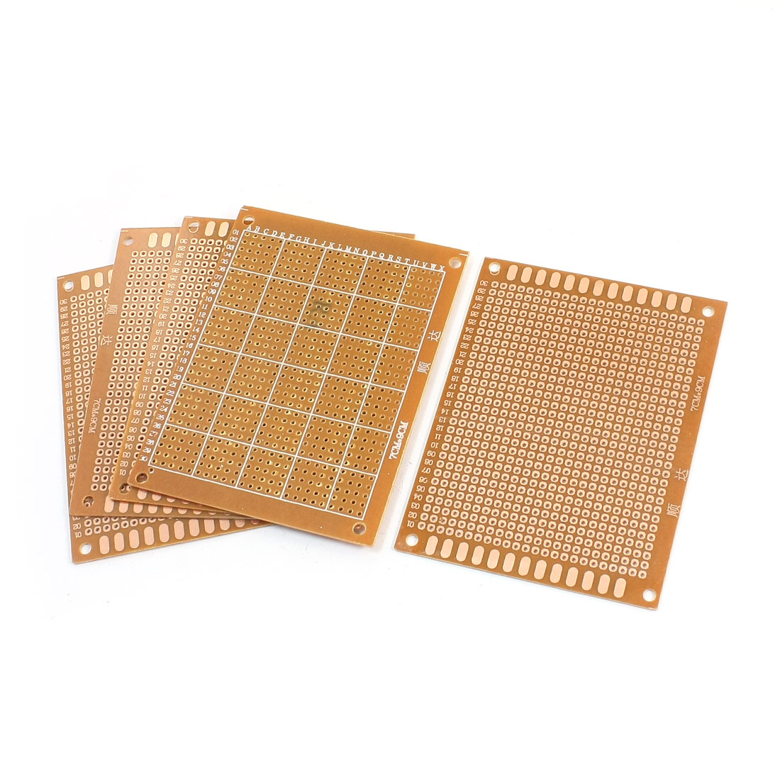 5pcs 7x9cm FR-4 Single Side Prototype Copper PCB Circuit Universal Board
