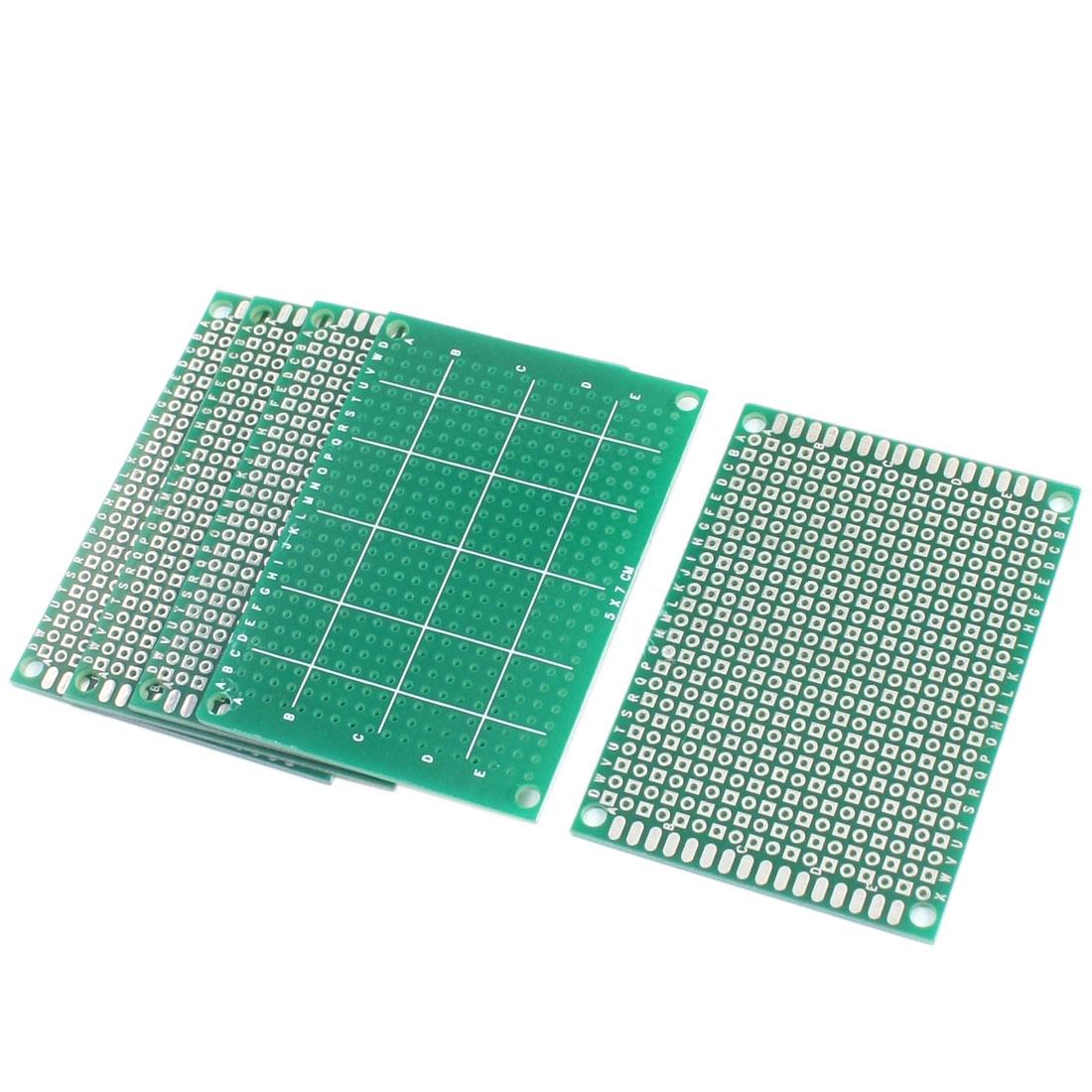 5pcs 5x7 5 x 7cm FR-4 Single Side Prototype PCB Circuit Universal Board