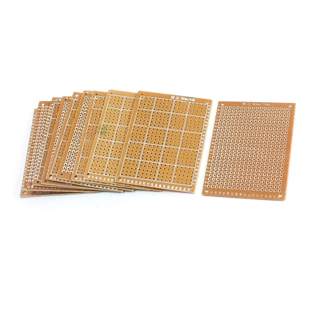 10pcs Prototyping Experiment Tester Matrix PCB Circuit Board 5x7 5 x 7cm