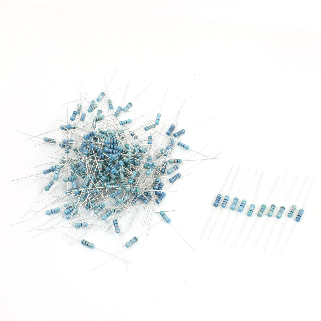200pcs 10 Values 5.1-10K Ohm 5% Tolerance 1/2W Carbon Film Resistors
