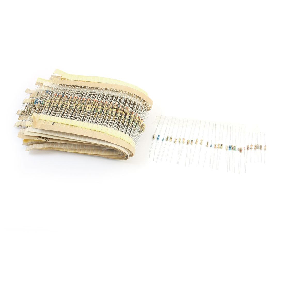 1500pcs 30 Values 20K-120K Ohm 5% Tolerance 1/4W 1/6W Carbon Film Resistors