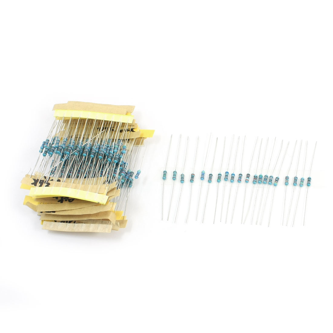200pcs 5 Bands 20 Value Kinds Metal Film Resistors 20K-120K Ohm 1% 1/4W