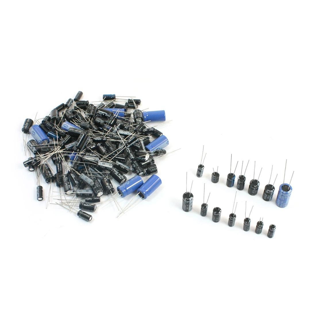 140Pcs 14 Values 105C Radial DIP 0.47uF-2200uF Electrolytic Capacitors