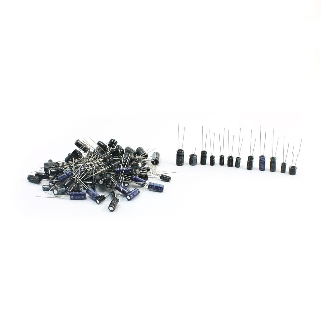 120Pcs 12 Values 0.22uF-470uF Radial Lead DIP Electrolytic Capacitors