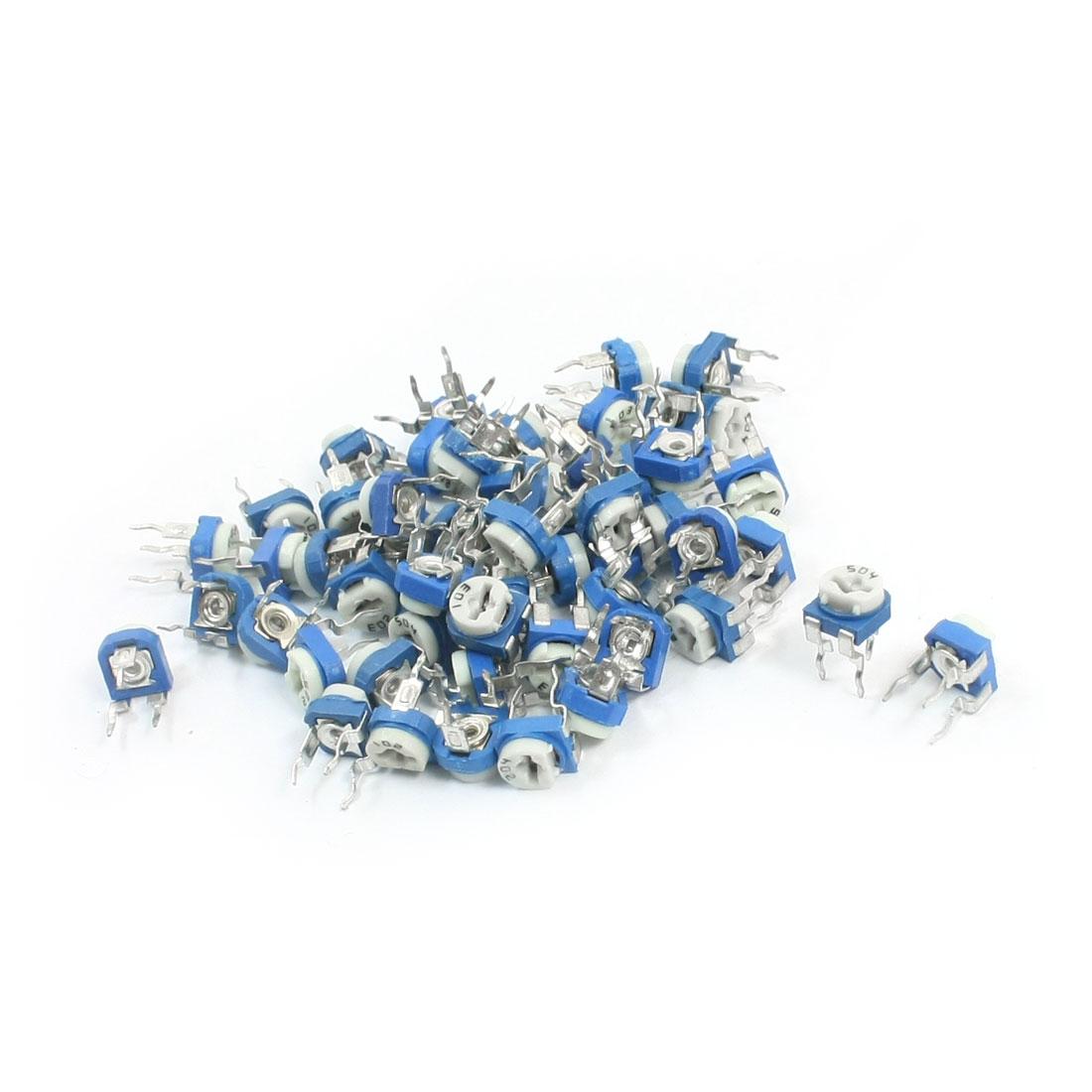 55pcs 200-500K Ohm 11 Kinds Value Cermet Adjustable Potentiometer Rheostat