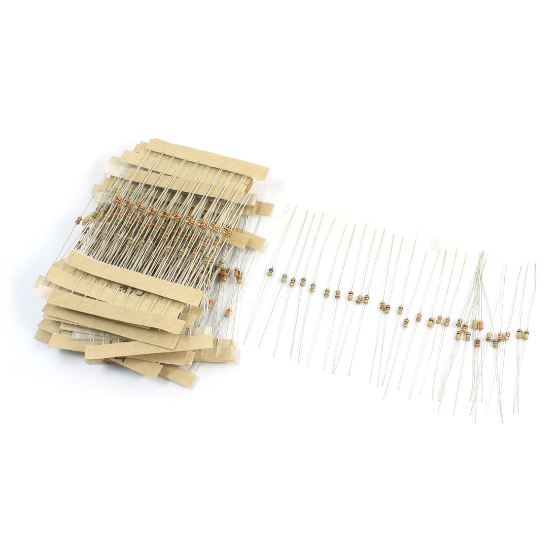 300pcs 30 Values Carbon Film Resistors 1-1M Ohm 5% 1/6W 1/8W Assortment Set