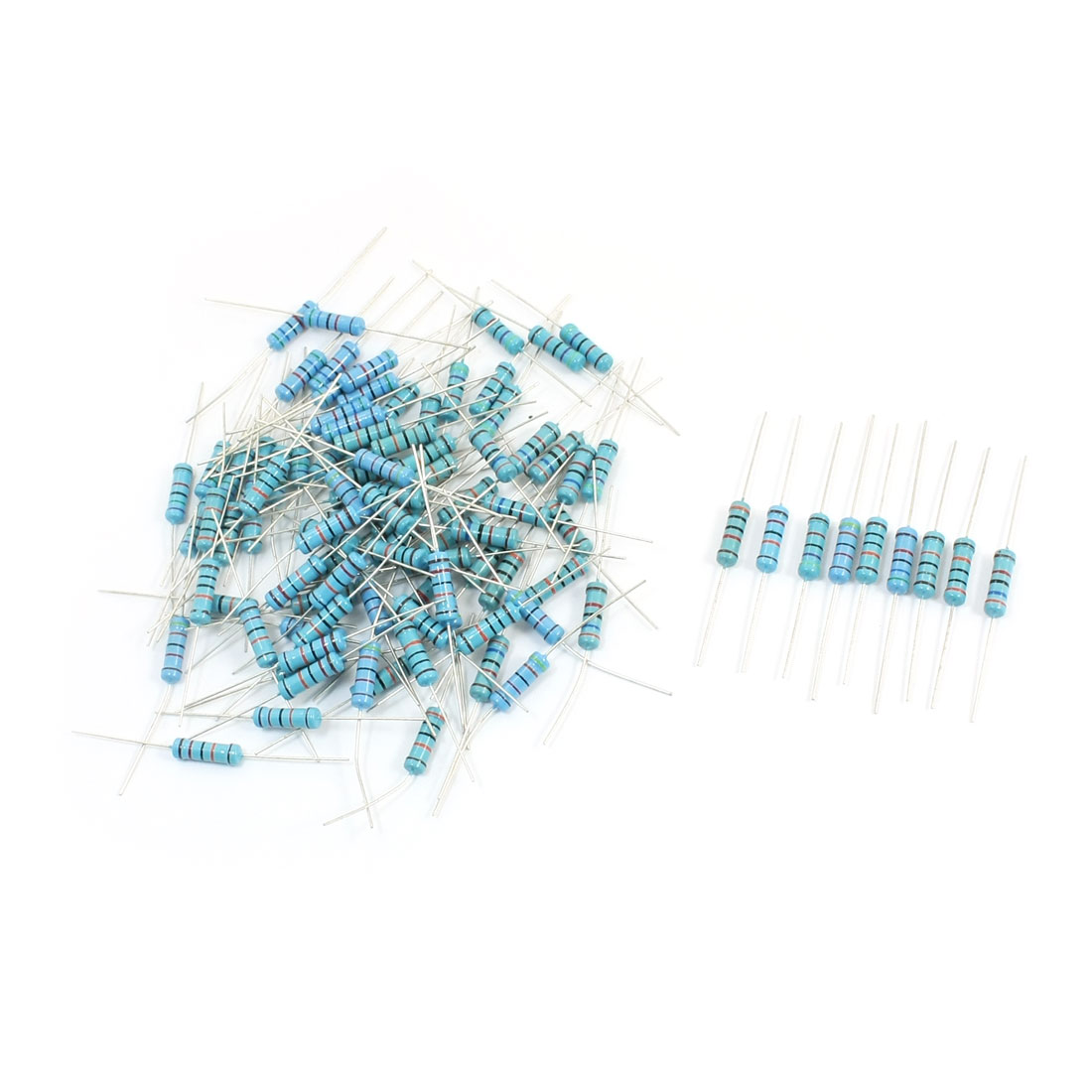100Pcs 2W 10 Values 30K-180K Ohm 1% Tolerance Axial lead High Precision Metal Flim Resistors Assembly Kit