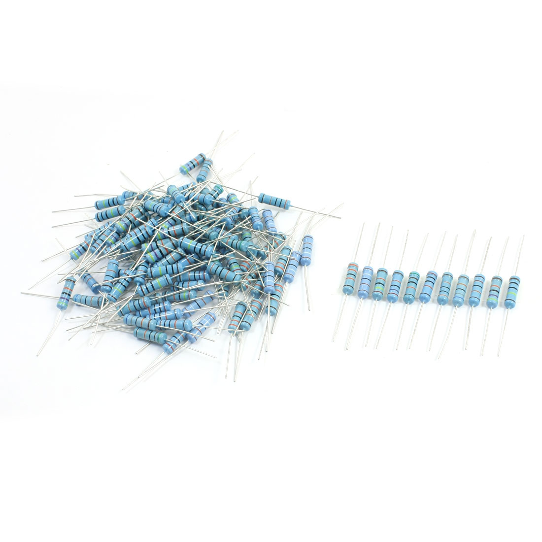 110Pcs 2W 11 Values 200K-1M Ohm 1% Tolerance Axial lead High Precision Metal Flim Resistors Assembly Kit