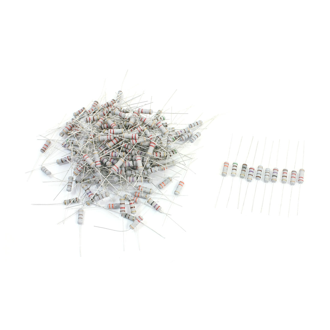 200pcs 4 Bands 10 Value Kinds Carbon Film Resistors 0.22-1.2K Ohm 5% 1W