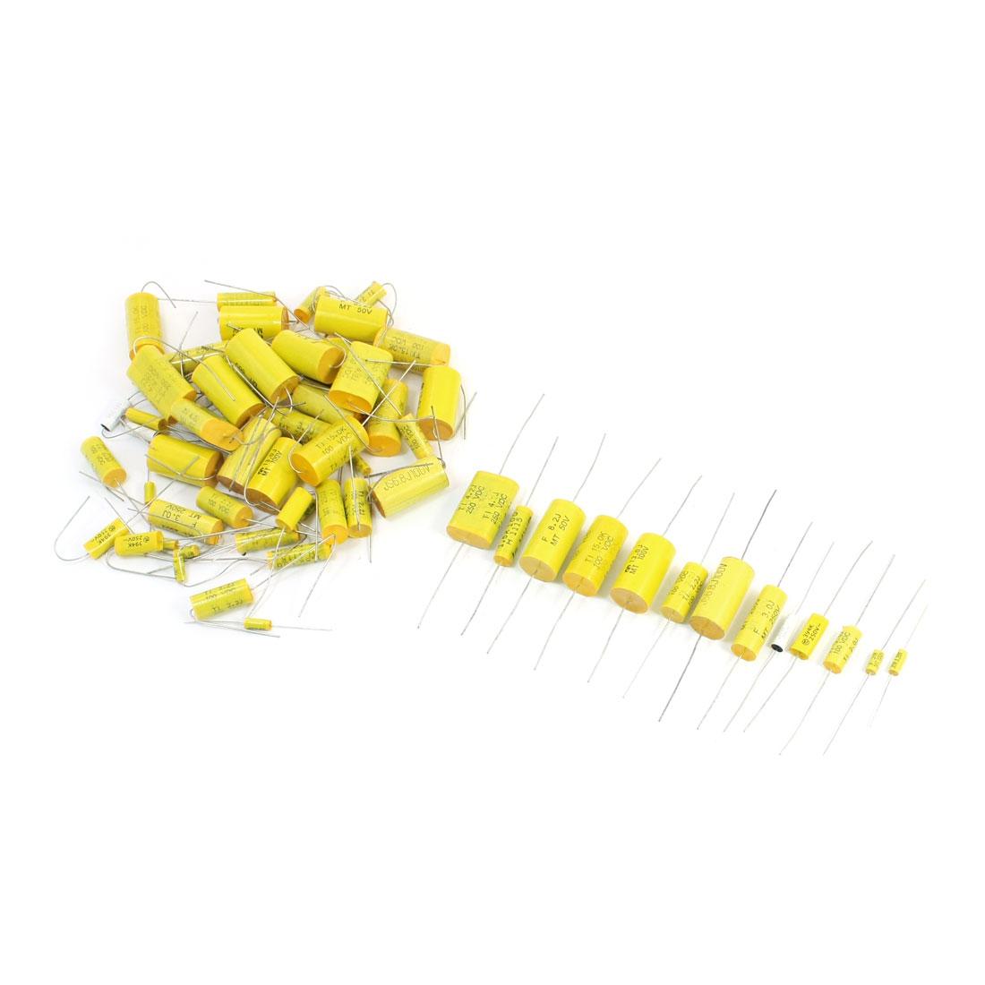 60Pcs 12 Values 0.1uF-15uF Radial Lead DIP Ceramic Capacitors