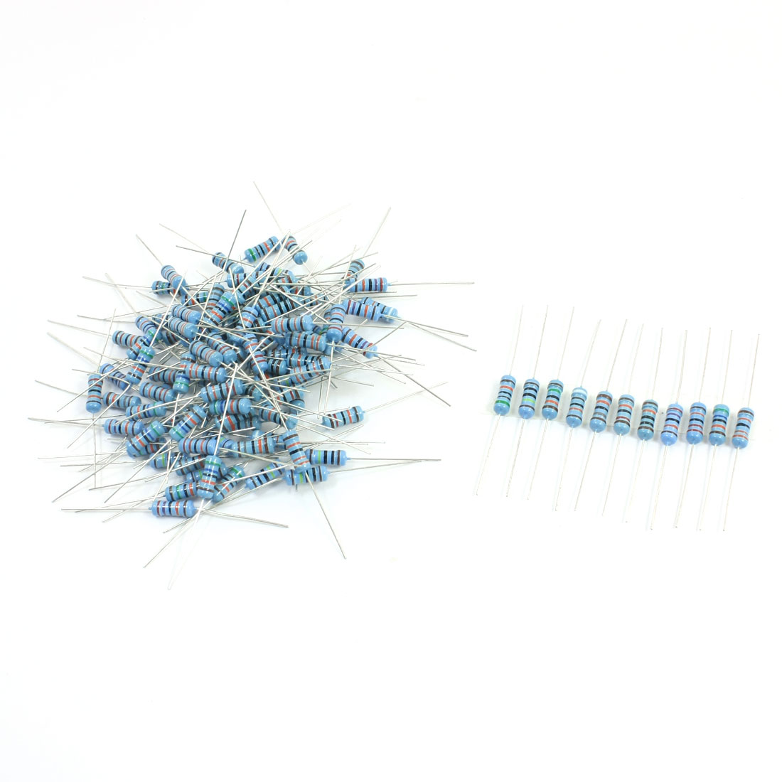 110pcs 11 Values Metal Film Resistors 100K-1M Ohm 1% 1W Assortment Set