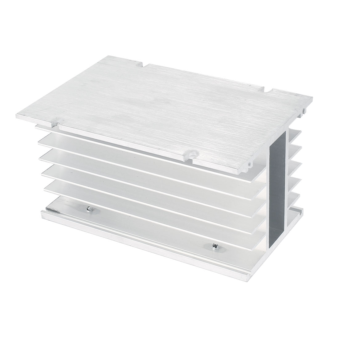 Solid State Relay Aluminium Heatsink Cooling Fin 150mmx100mmx80mm Silver Tone