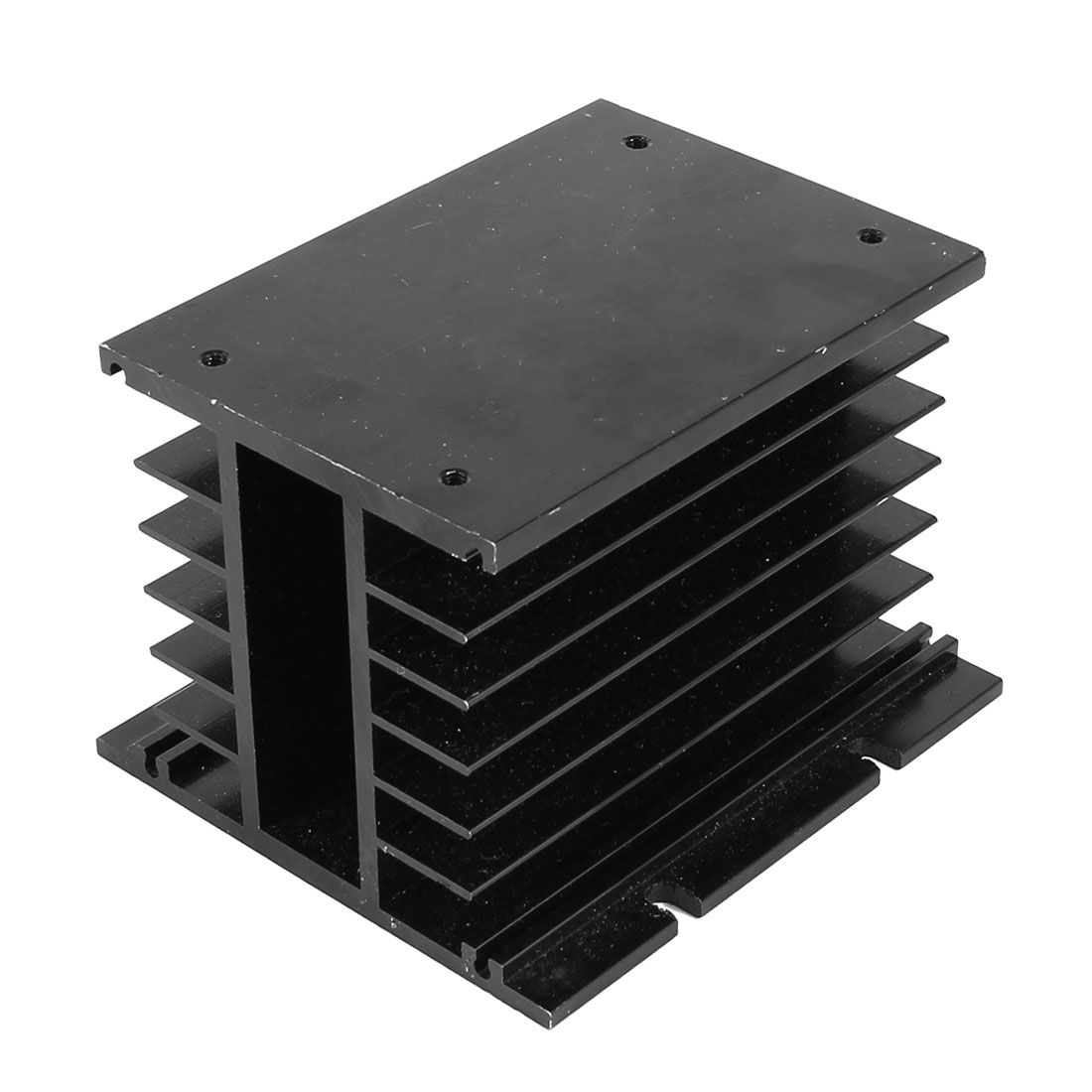 Aluminium Heatsink Cooling Fin 105mmx100mmx80mm Black for Solid State Relay