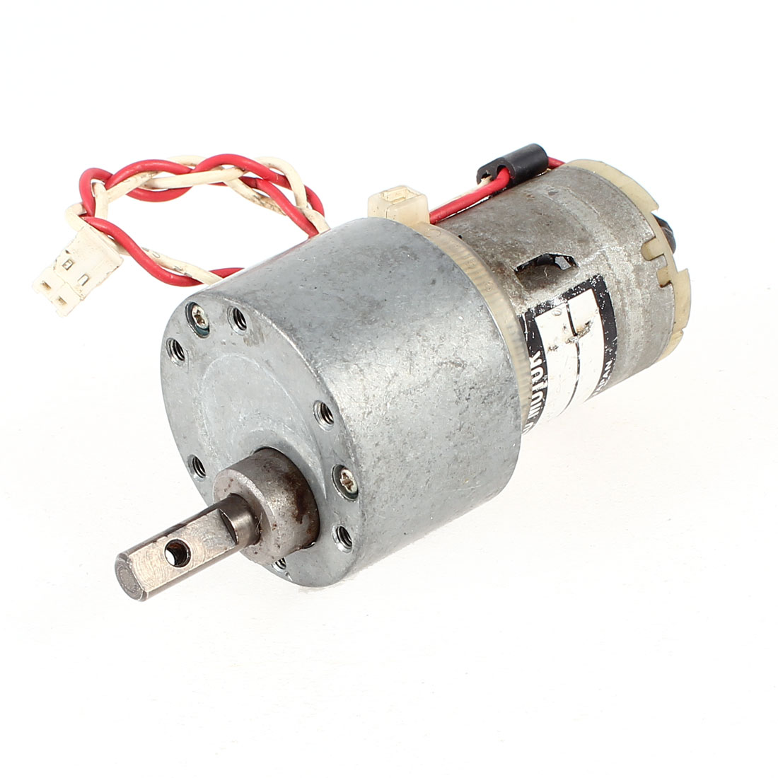 DC 24V 35RPM 6mm D Shaped Shaft Cylinder Electric Geared Box Speed Reducer Motor
