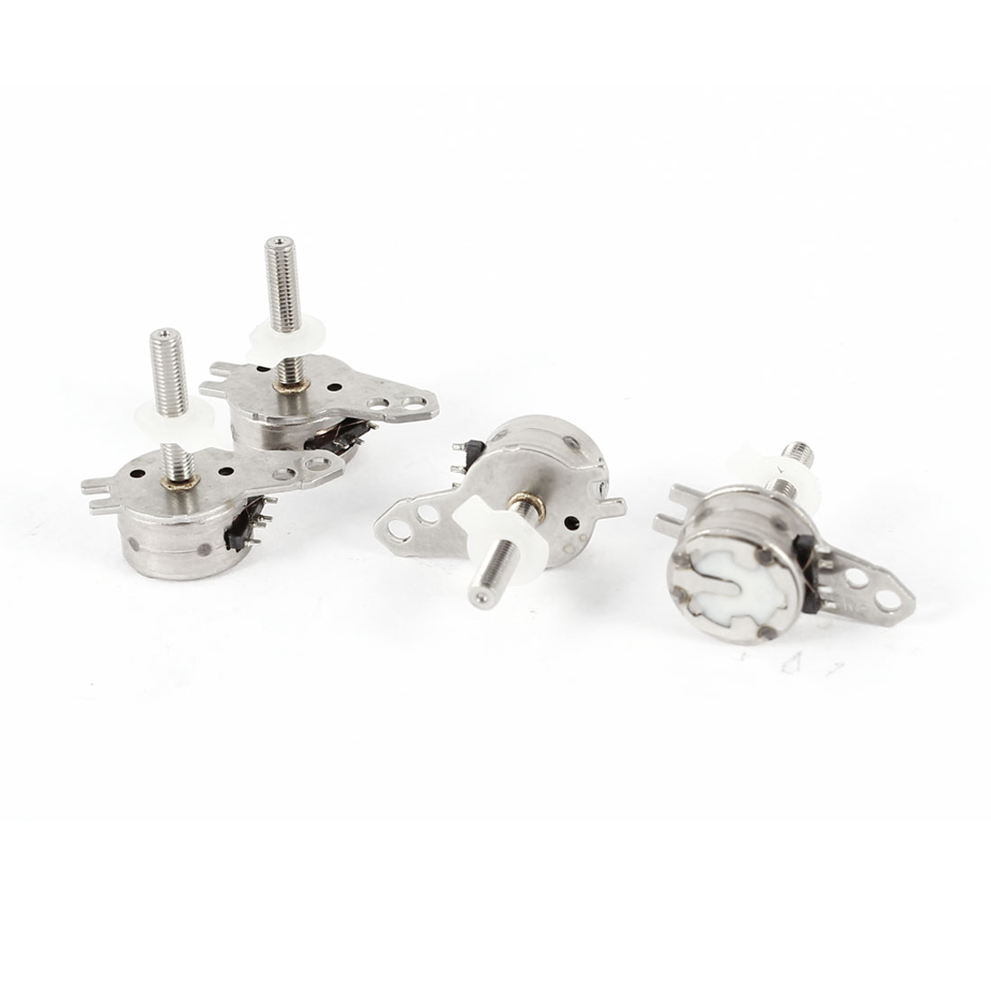DC 5V Two-Phase Four-Wire 7mm Dia Mini Stepper Motor Replacement 4 Pcs