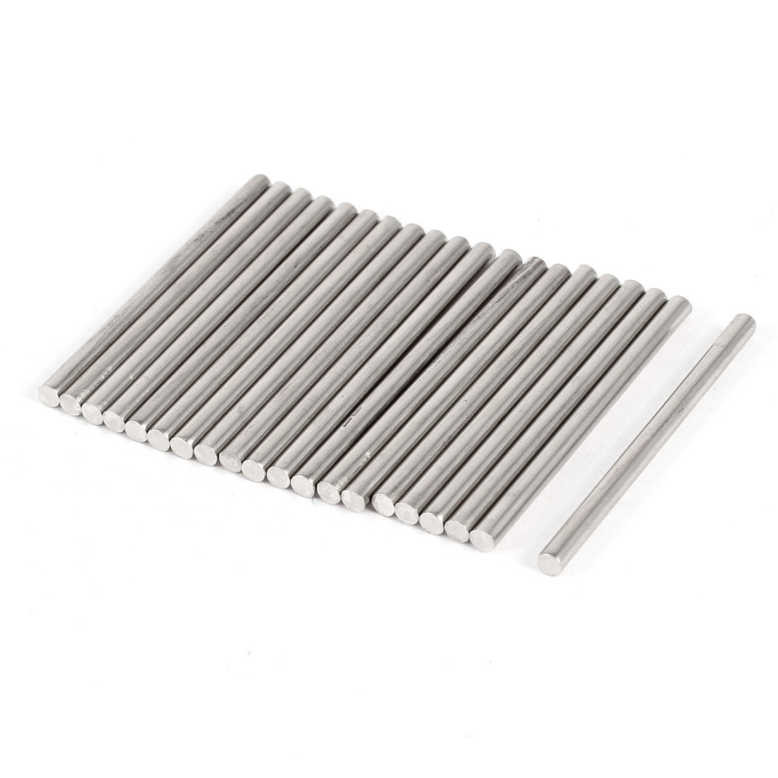 DIY Car Helicopter Model Toy Stainless Steel Round Axles Rod Bar 2.5mmx40mm 20 Pcs