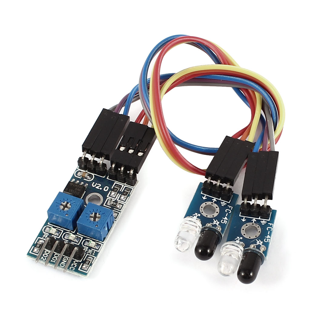 20cm Cable 2 Channel Infrared Obstacle Avoidance Sensor Module for Smart Car