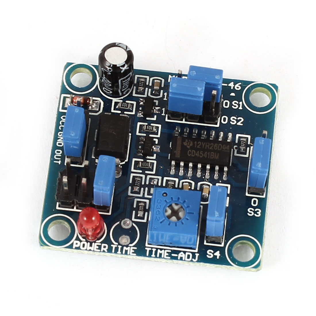 DC 4-12V Relay Control Time Delay Switch PCB Board Module Black Blue