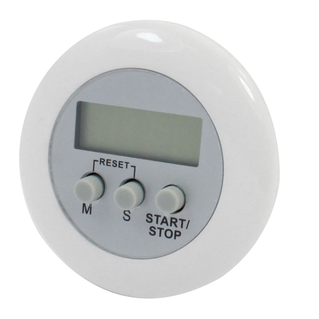 Kitchen White Round LCD Digital Button Count Down up Mini Clip Timer Clock