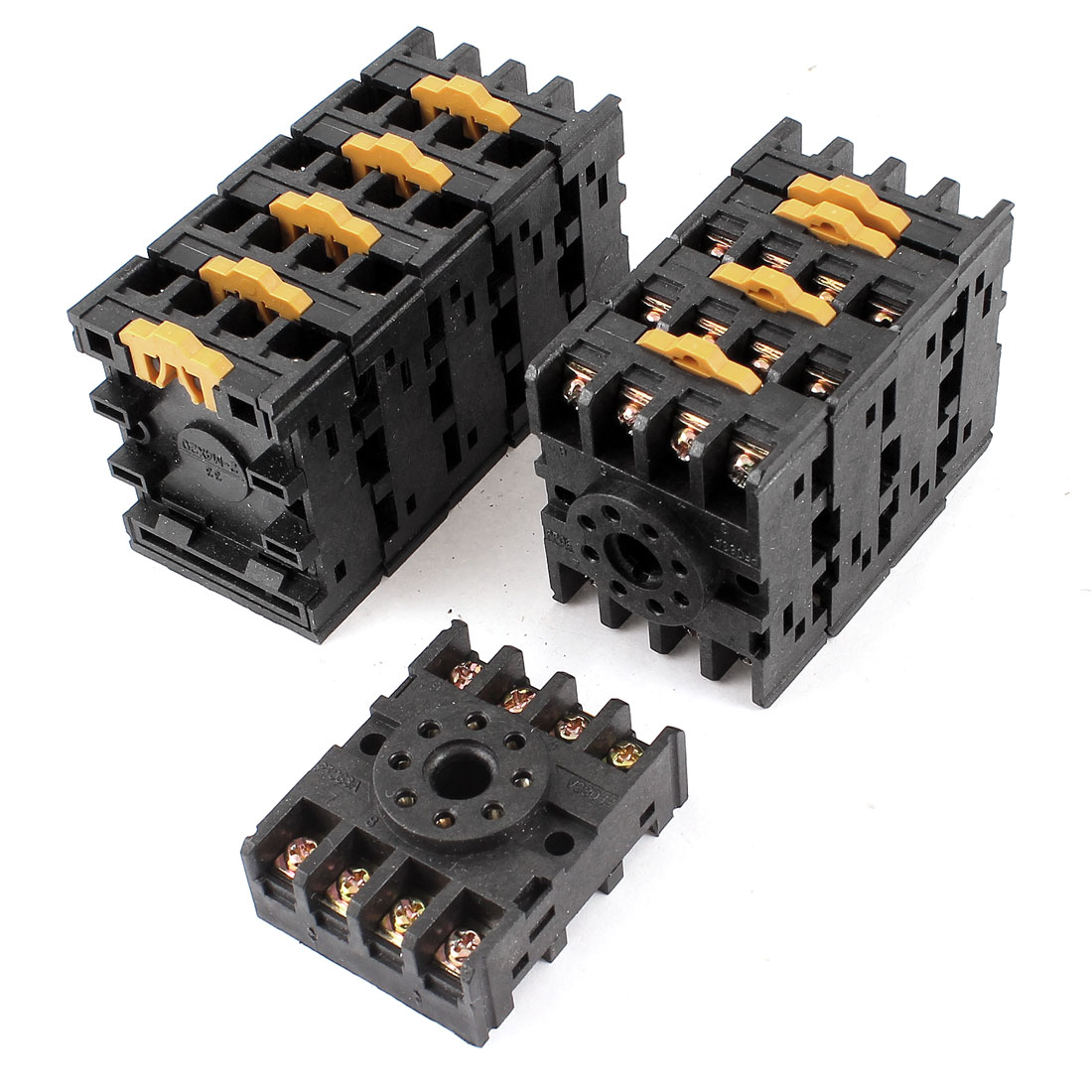 10pcs PF083A 35mm DIN Rail Relay Socket Base 8-Pin for JTX-2C JQX-10F