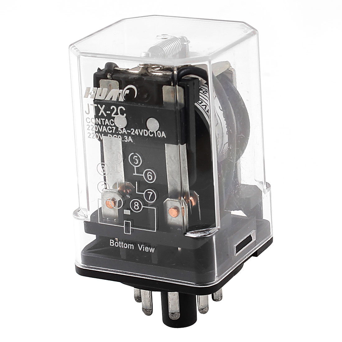 Motor Control 8-Pin DPDT DP2T Electromagnetic Relay DC 24V Coil