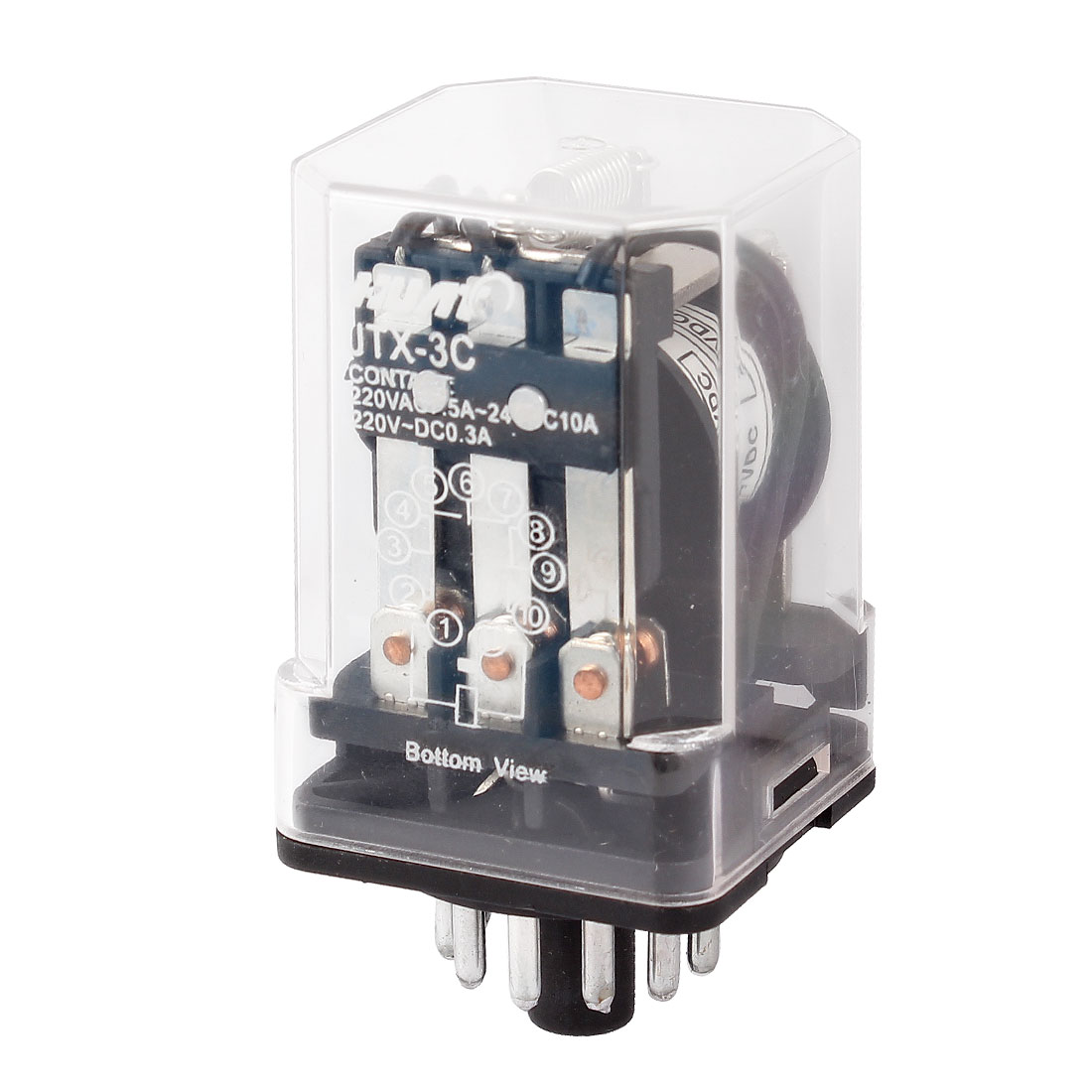 Motor Control 11 Pin 3PDT Electromagnetic Relay DC 24V Coil JTX-3C
