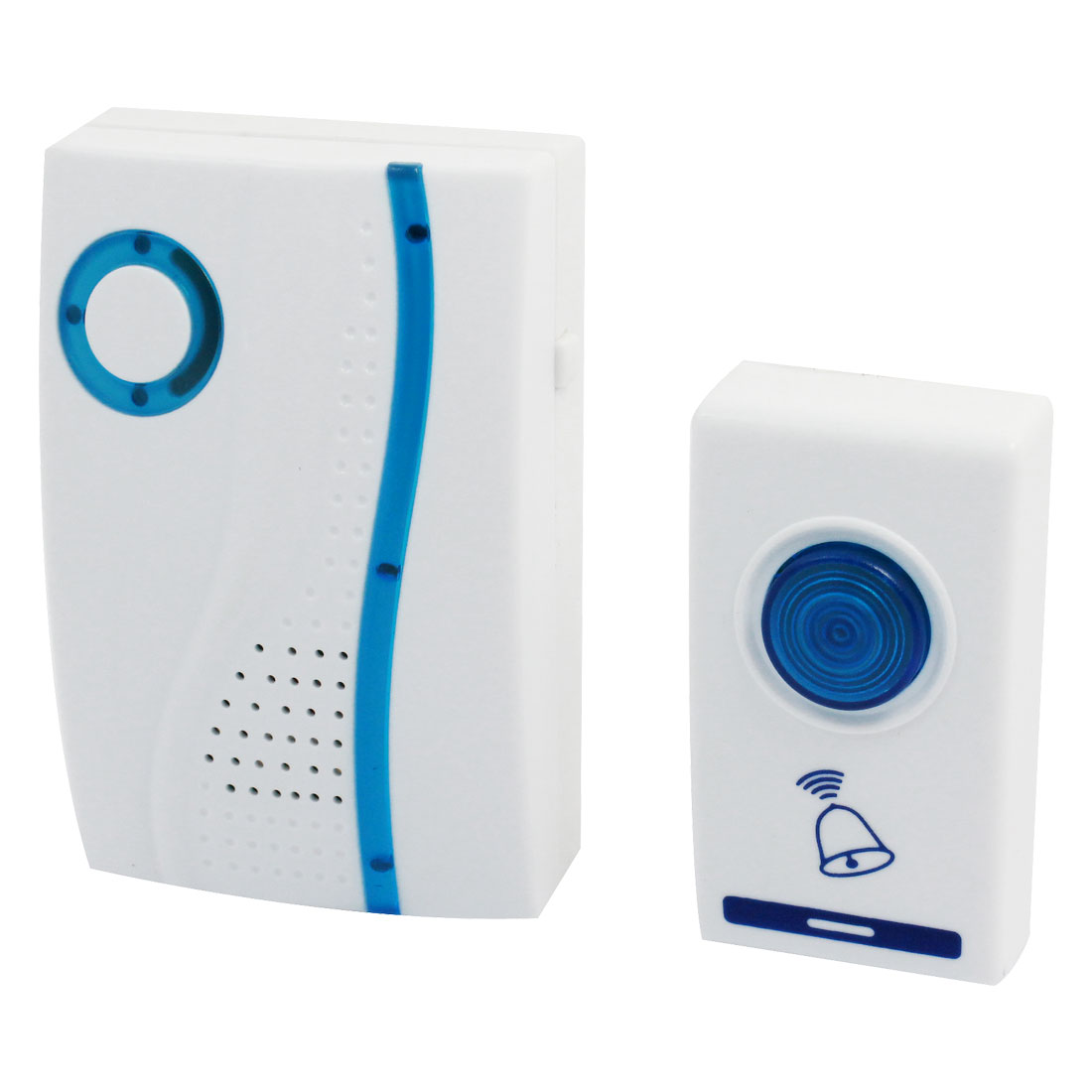 Household Plastic Wireless Musical Remote Doorbell Door Chime + Switch