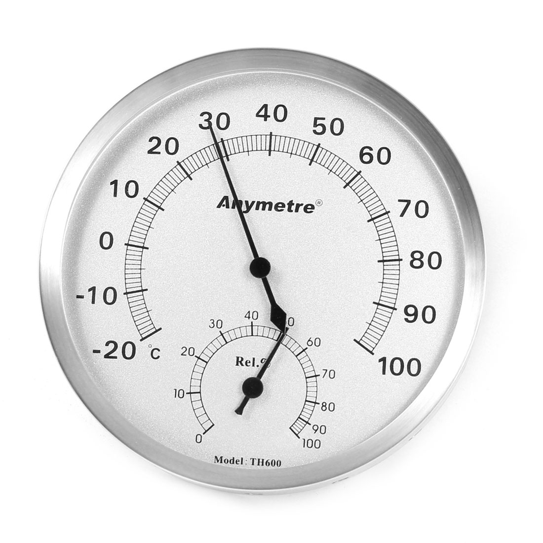 Home Office Measuring 12.5cm Dia Round Dial Thermometer Hygrometer