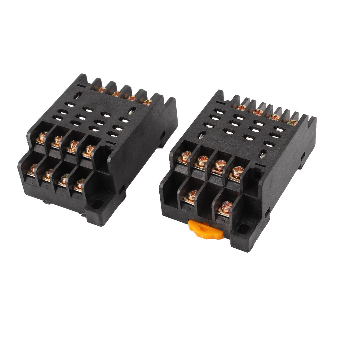 PTF14A 14 Pins 14P DIN Rail Mount Relay Socket Base 2pcs for HH64P