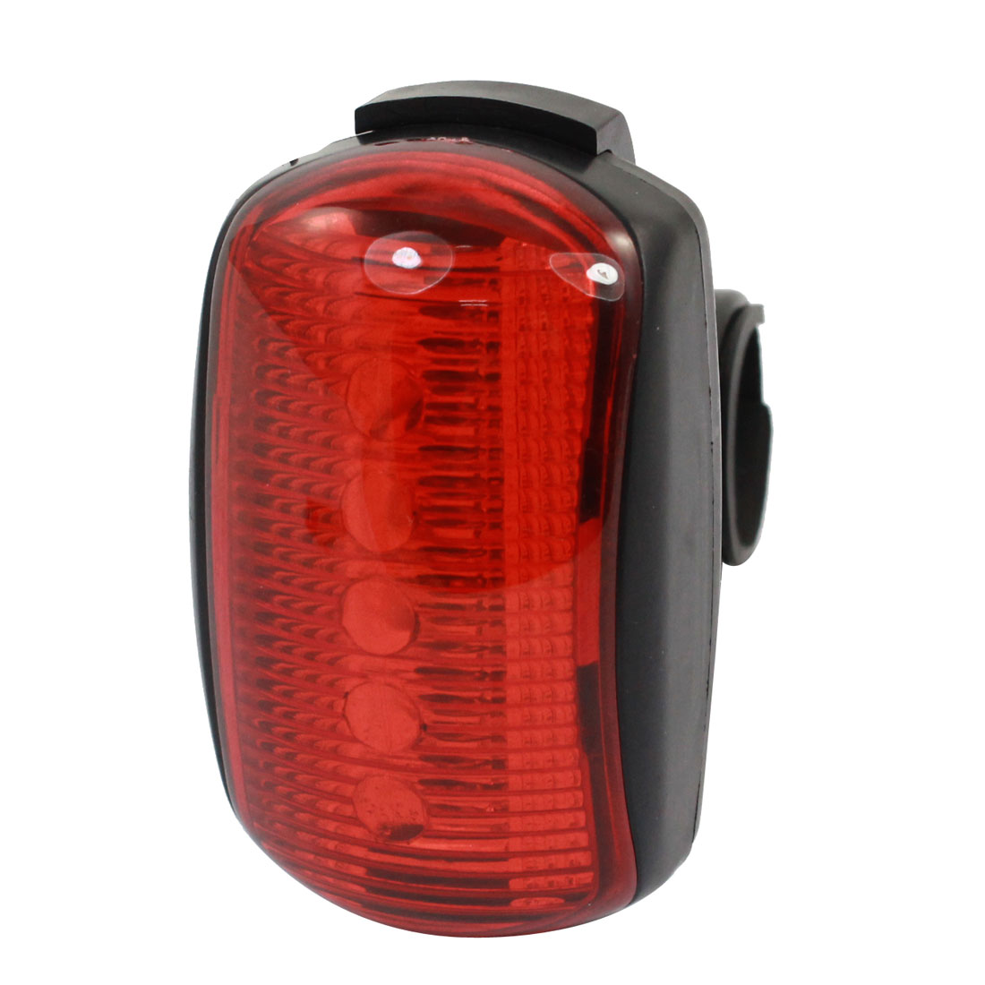 Battery Powered 7 Modes Red 5-LED Bicycle Cycling Rear Light Tail Lamp