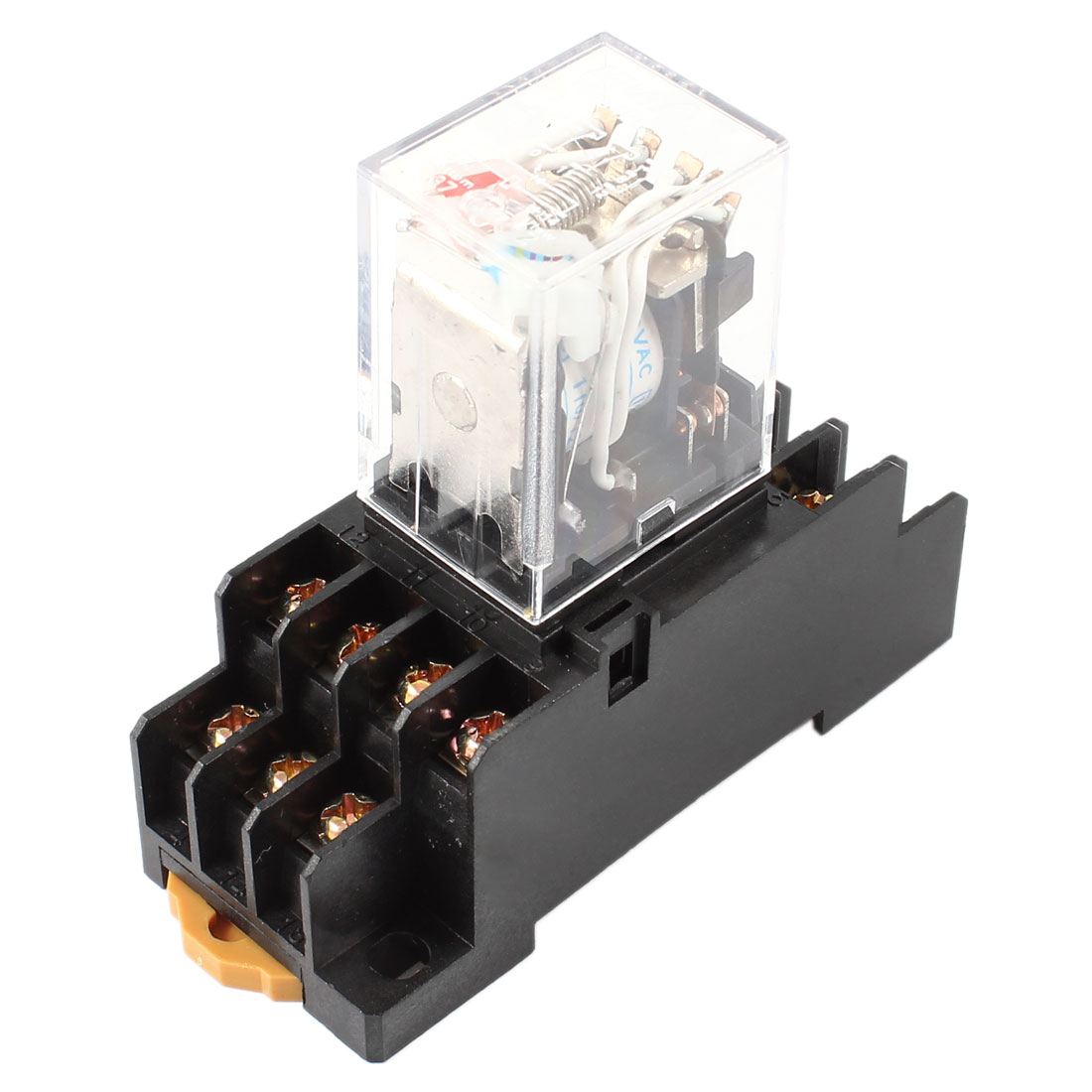 AC 110/120V Coil 4PDT 14 Pin Red LED General Purpose Power Relay w Socket