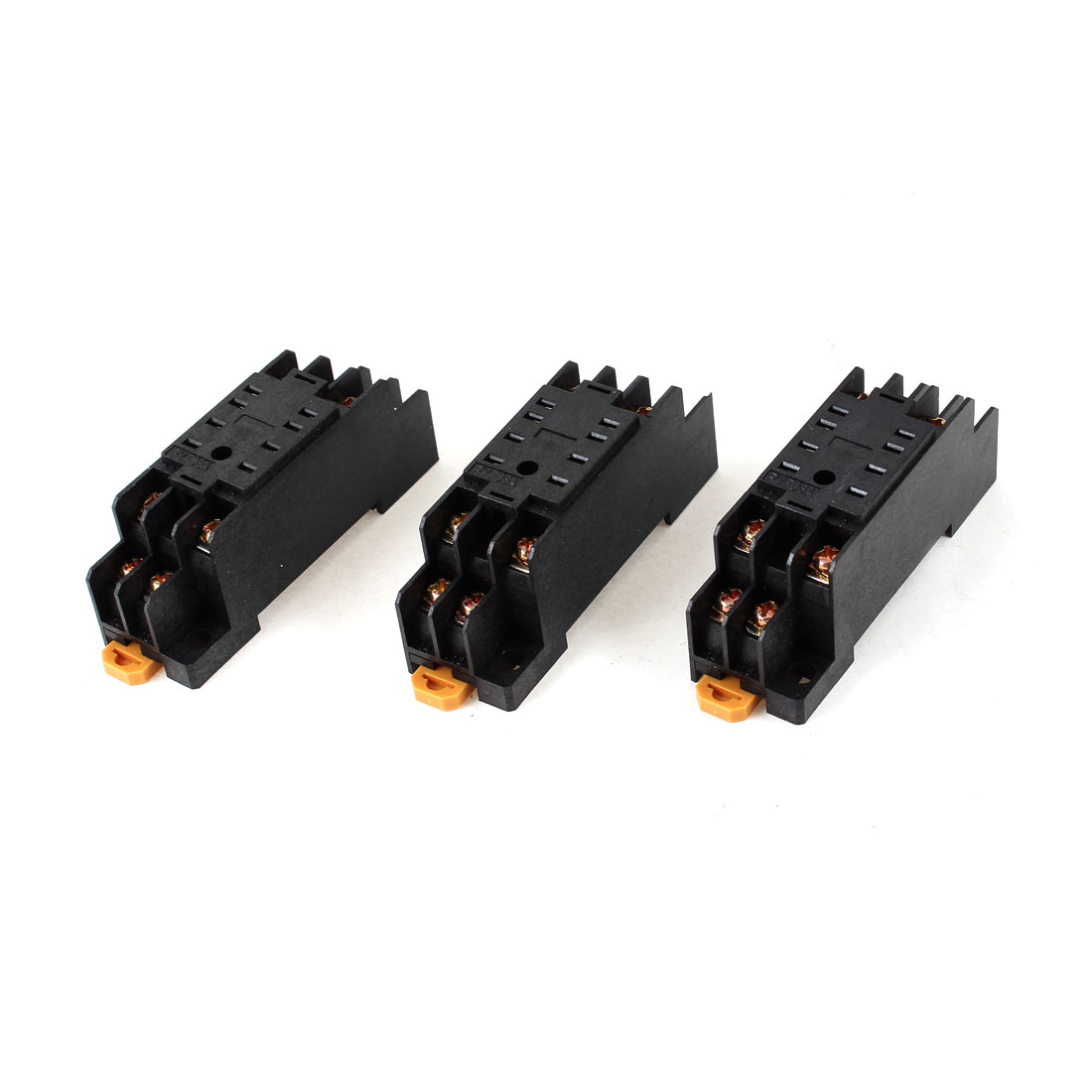 PYF-08A 8 Pins 8P DIN Rail Mount Relay Socket Base for MY2NJ 3 Pcs