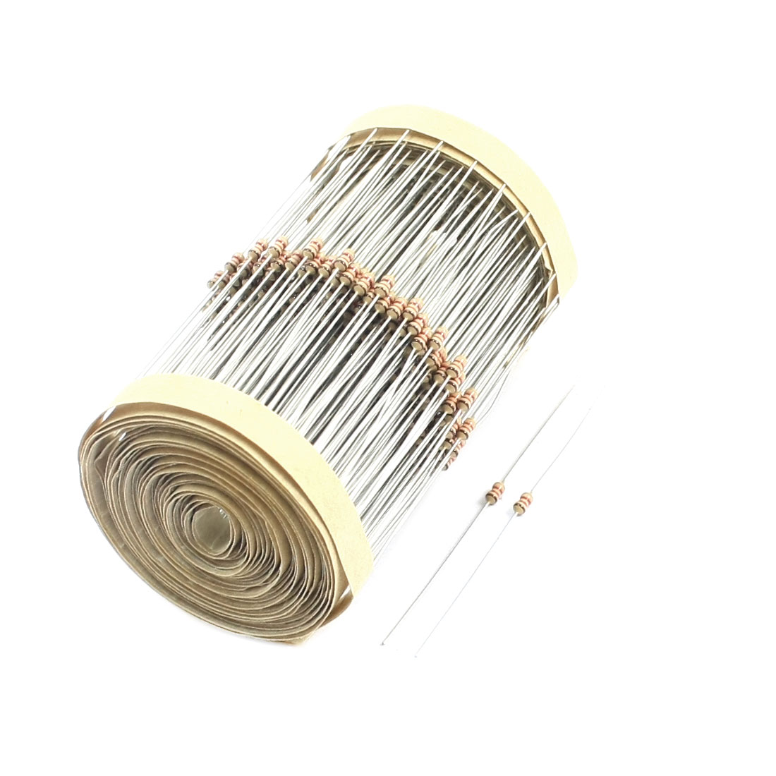 1.2K Ohm 1/8W Power Axial Lead Type Through Hole PCB Surface Mounting Colored Ring Carbon Film Fixed Resistors 400 Pcs