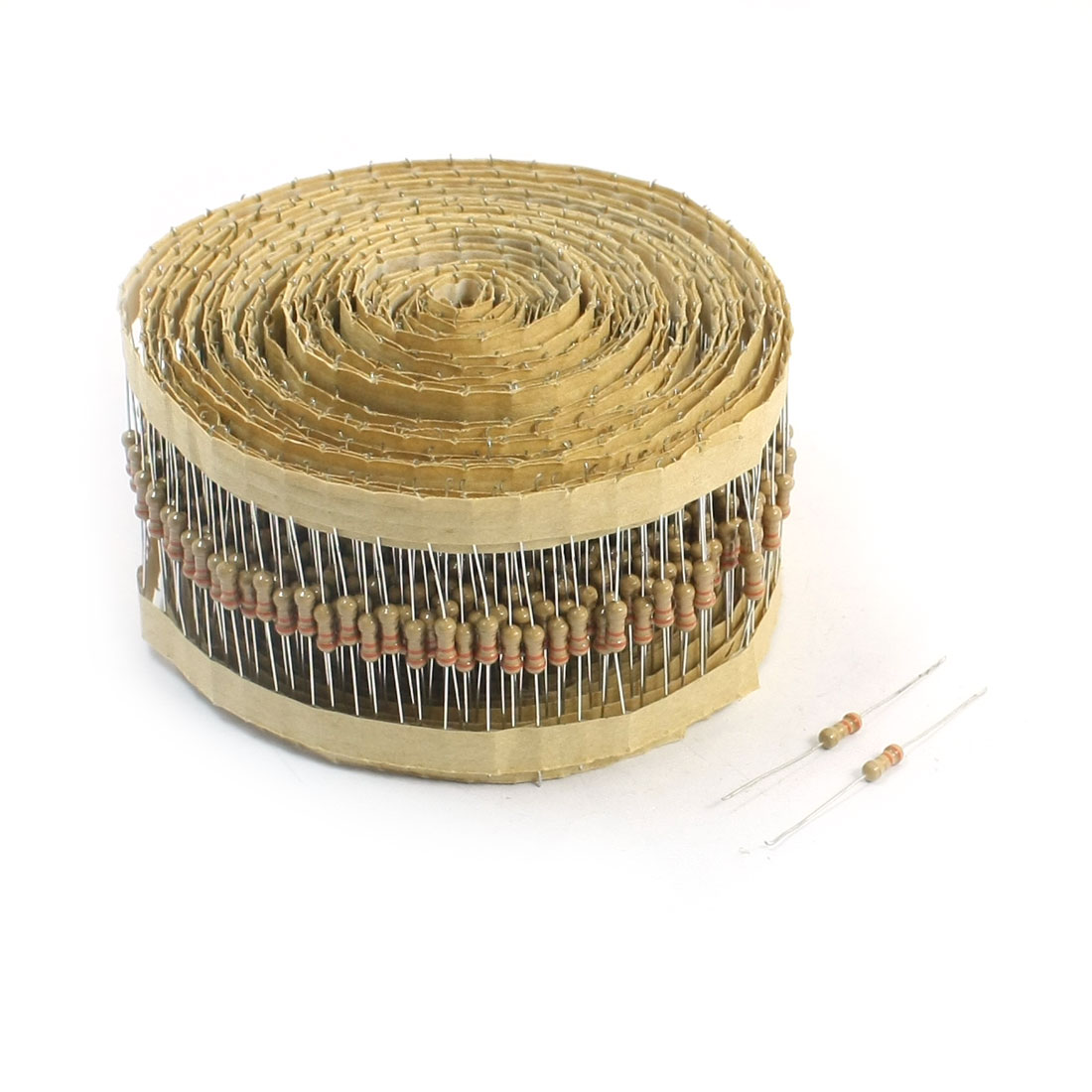 800PCS 3.3 Ohm 1/4W 4-Color Loop Axial Lead Type Carbon Film Resistors