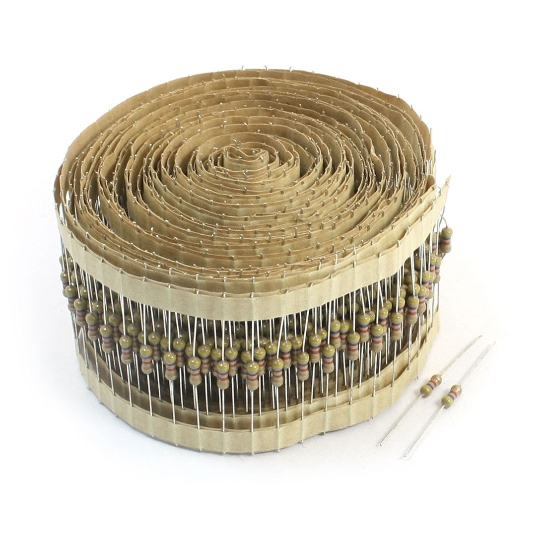 800pcs 1/4W 4.7K Ohm Metal Axial Leads Carbon Film Resistors 40mm Long