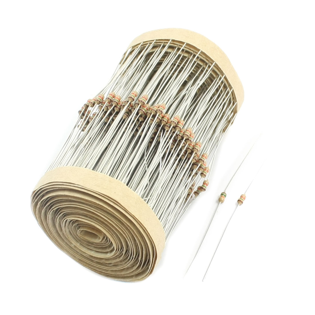 15K Ohm 1/8W Power 5% Tolerance Axial Lead Type Through Hole Mounting 4 Color Ring Carbon Film Fixed Resistors 400 Pcs
