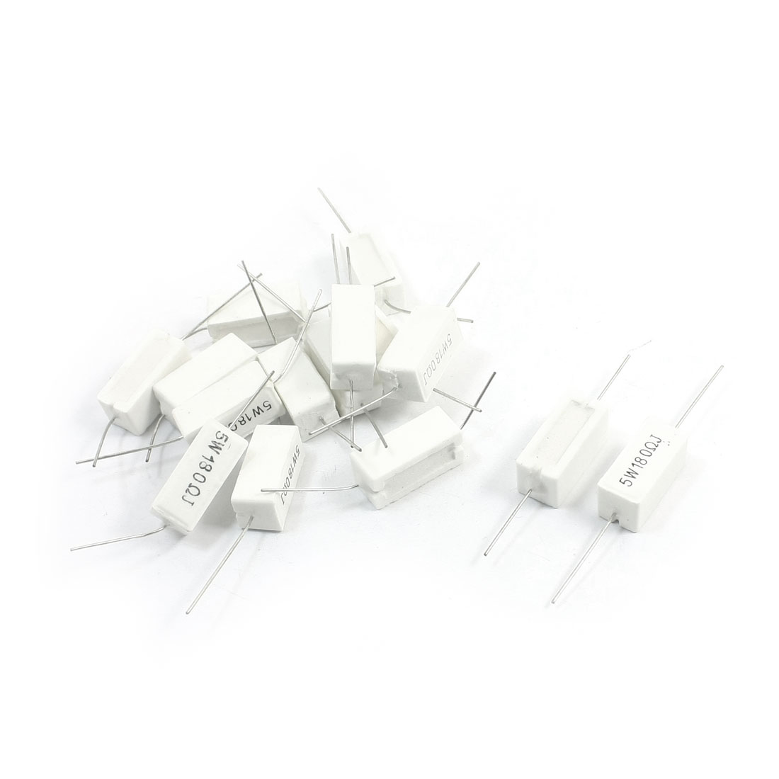 15Pcs 5Watt 180 Ohm 5% Tolerance Ceramic Cement Power Resistors