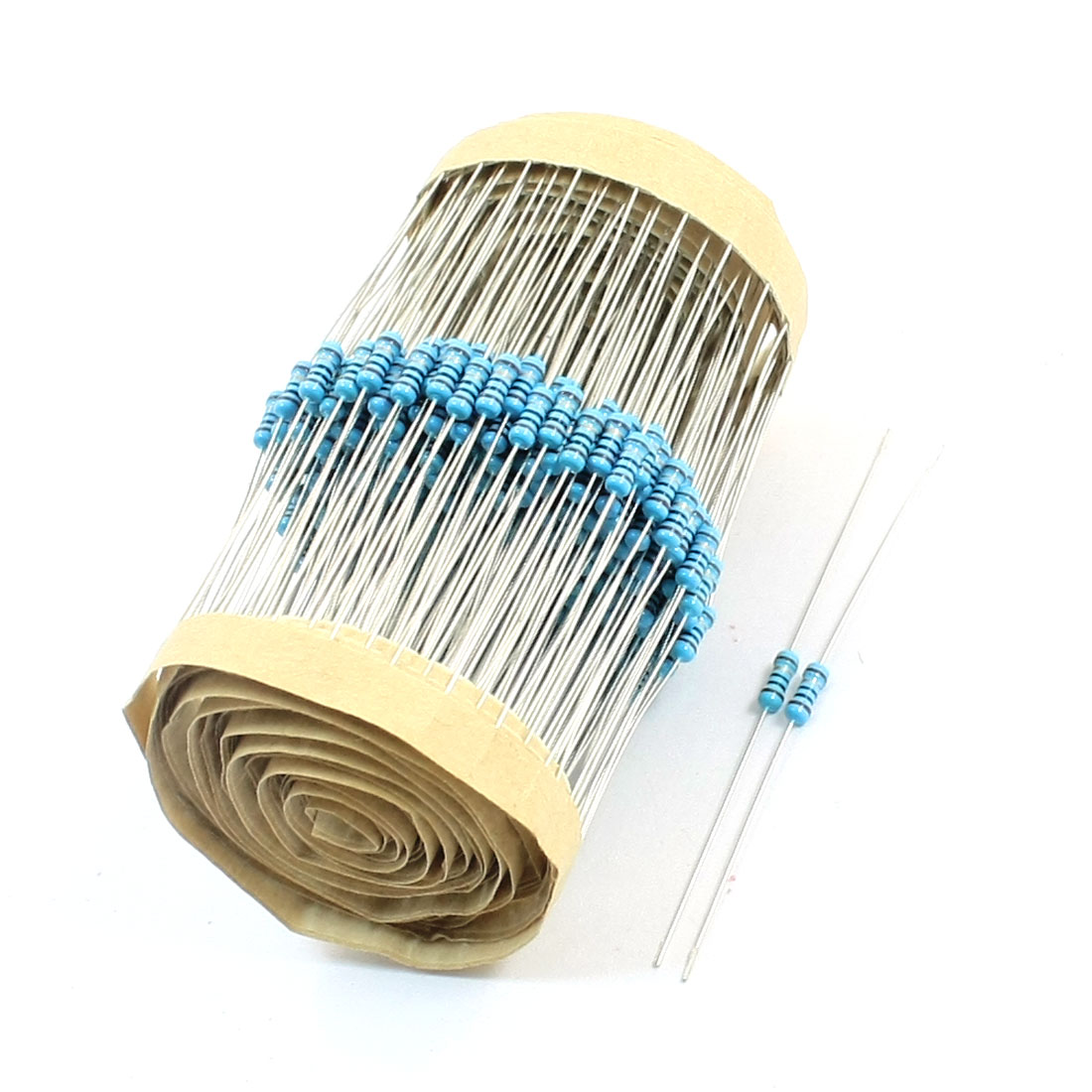 300 Pcs 1/4W Power 1% 10 Ohm Resistance Colored Ring Through Hole Mounting Flameproof Axial Lead Type Metal Oxide Film Resistors