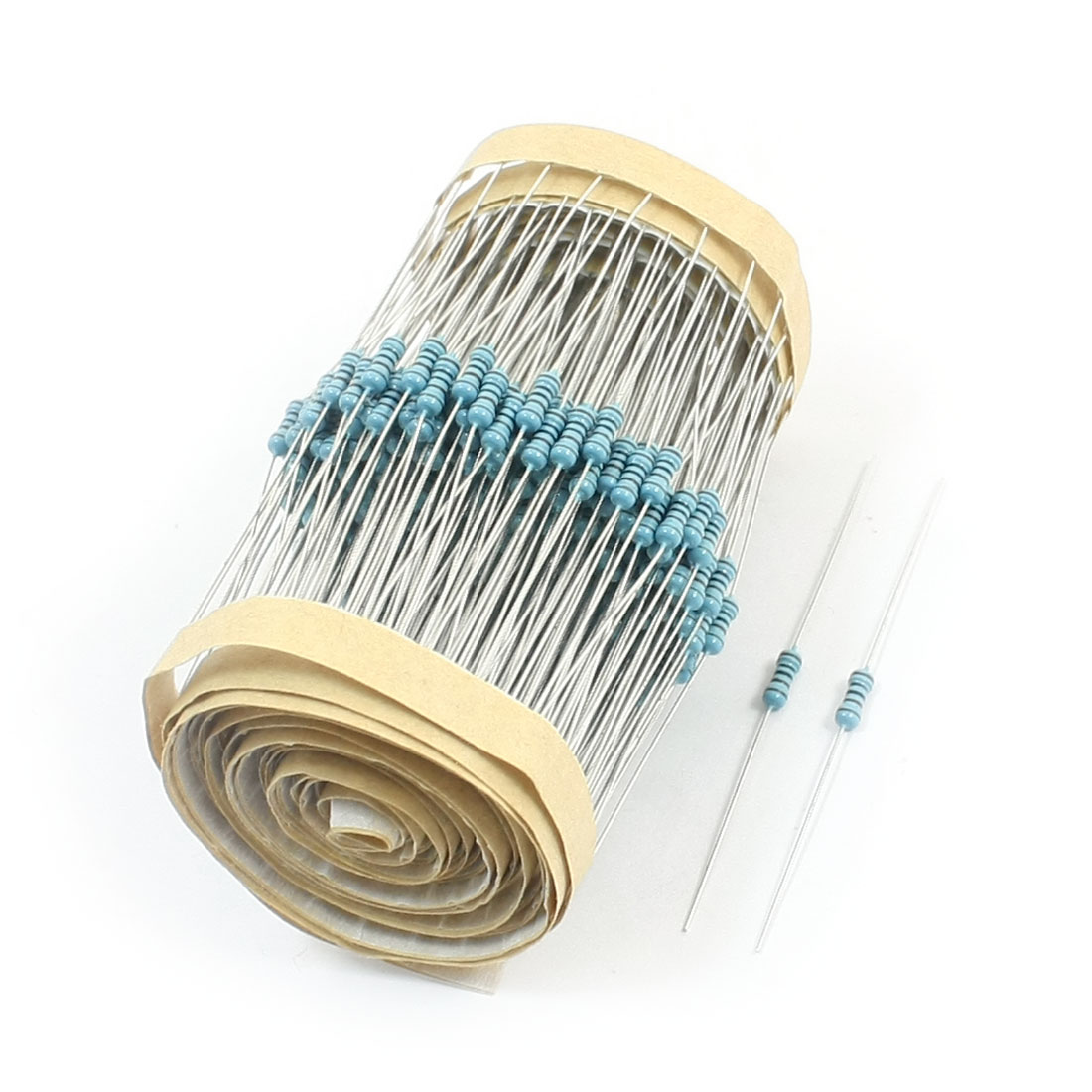 300 Pcs 1/4W Power 1% 1K Ohm Colored Ring Through Hole Mounting Flameproof Axial Lead Metal Oxide Film Resistors