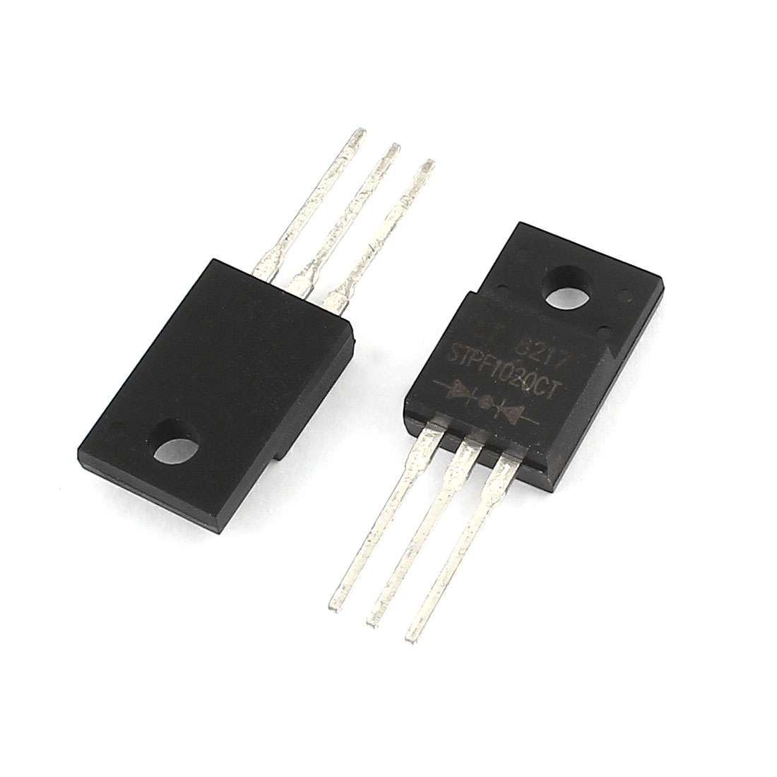 2Pcs STPF1020CT Electronic 3 Terminals Through Hole Mounting Ultra-fast Recovery Rectifier Diode