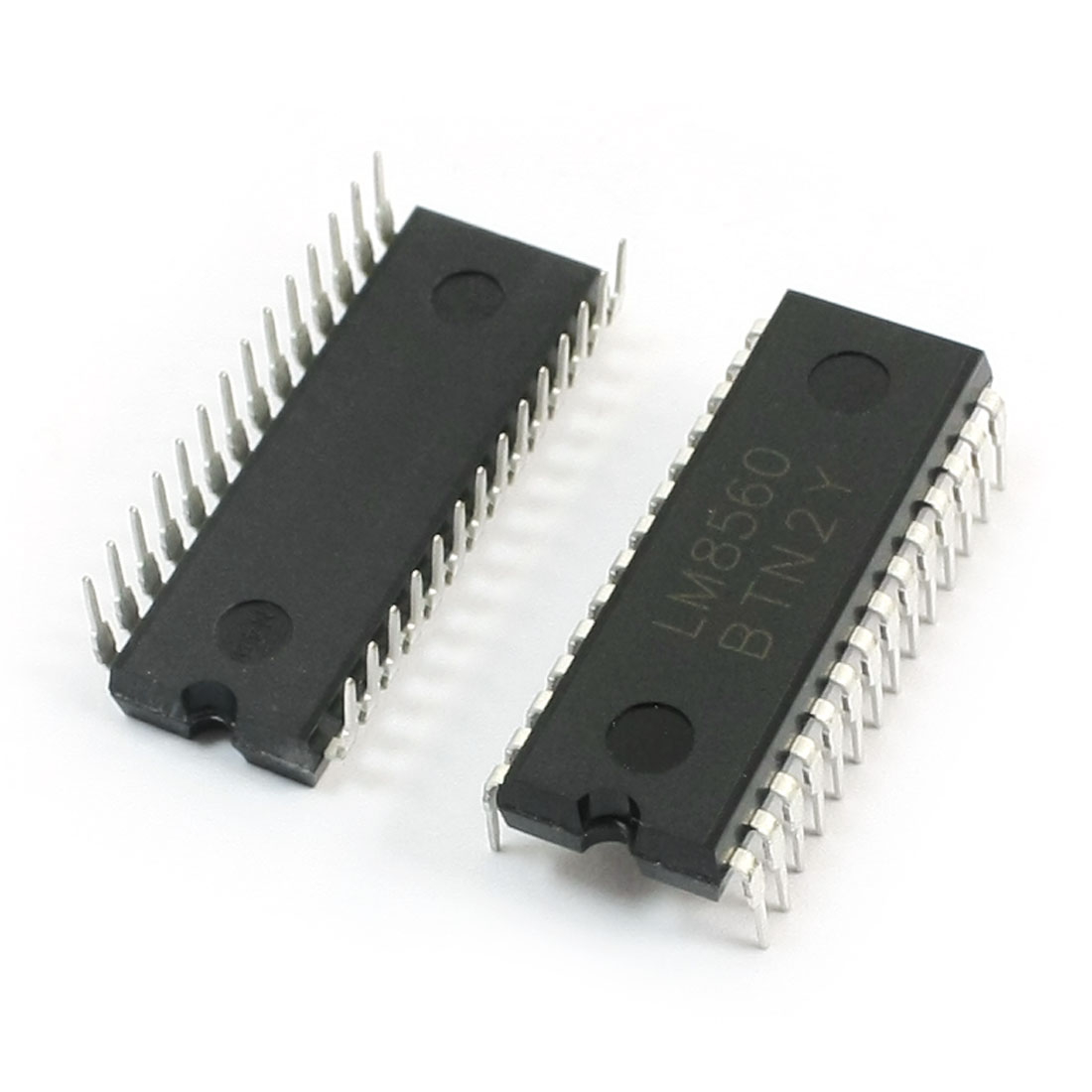 2Pcs LM8560 28Pin Dual Row Through Hole DIP Mounting Digital Alarm Clock IC Integrated Circuit Chip
