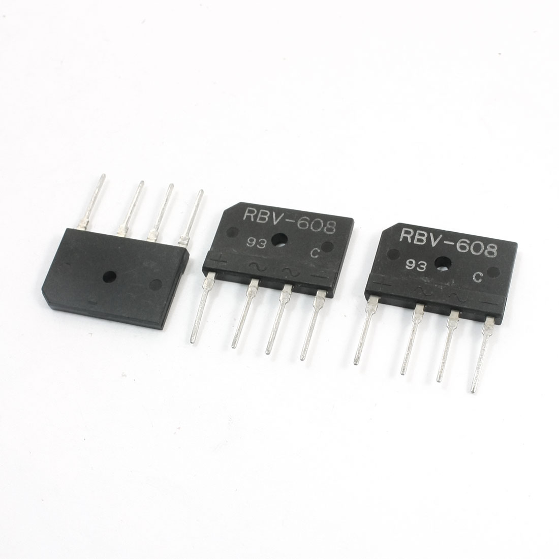 3PCS RBV608 6Amp 800V Through Hole Type 4Pins Bridge Rectifiers