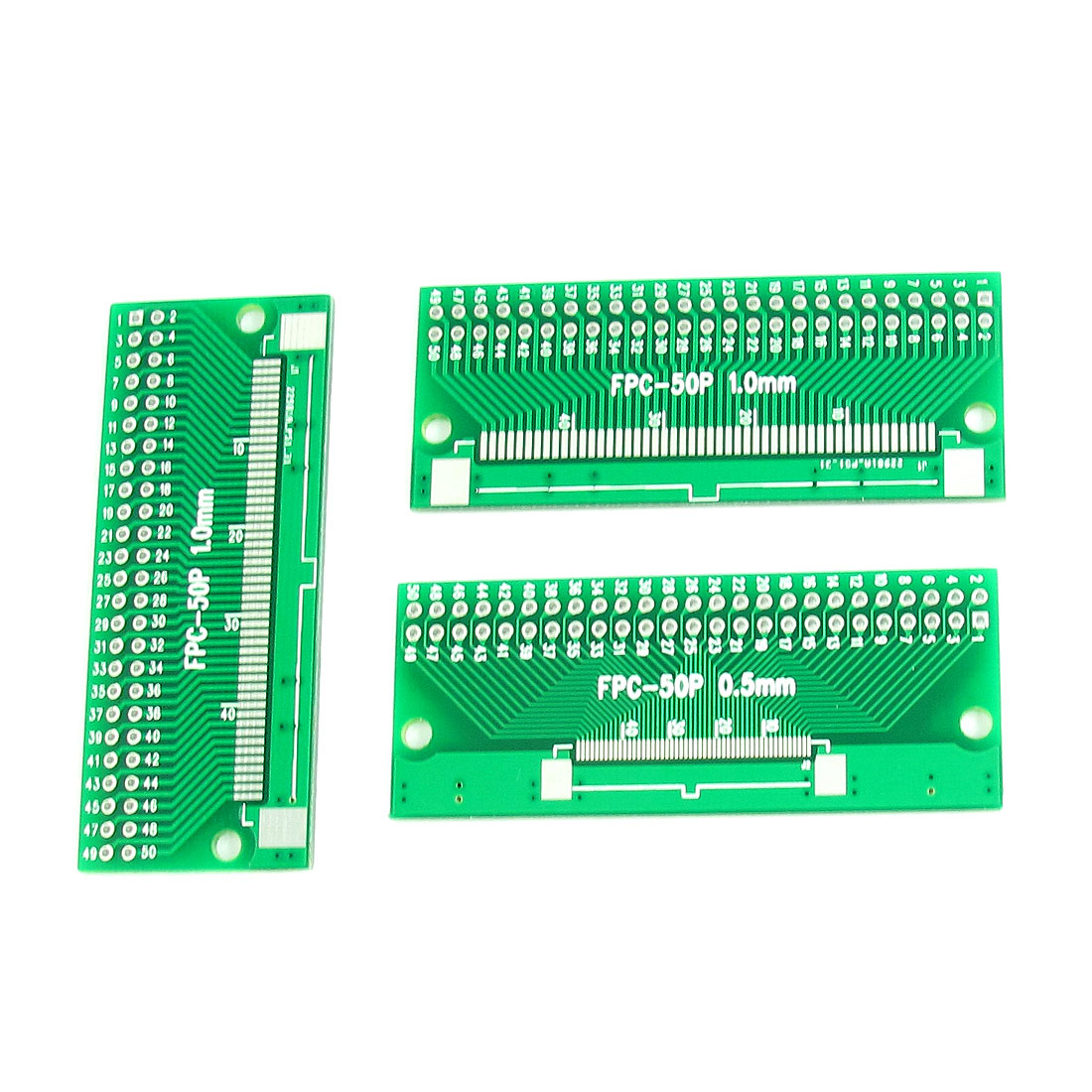 3Pcs FPC-50P 65mm x 26mm 2 Sides 0.5mm 1mm to 2.54mm Pitch DIP50 PCB Converter Adapter