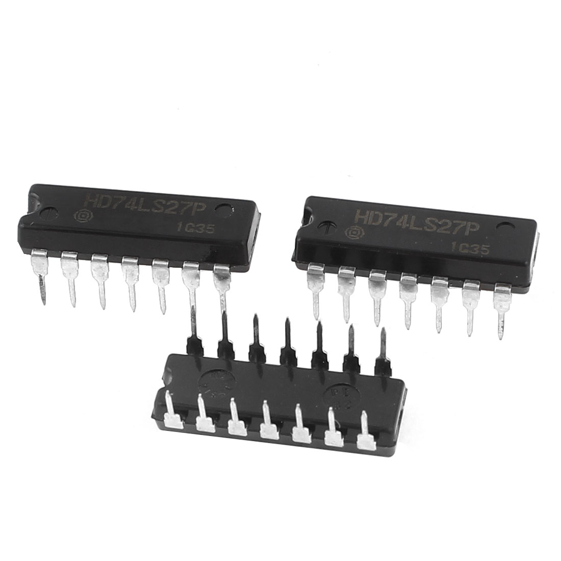 3Pcs Black Triple 3-Input Positive NOR Gates DIP-16 IC HD74LS27P