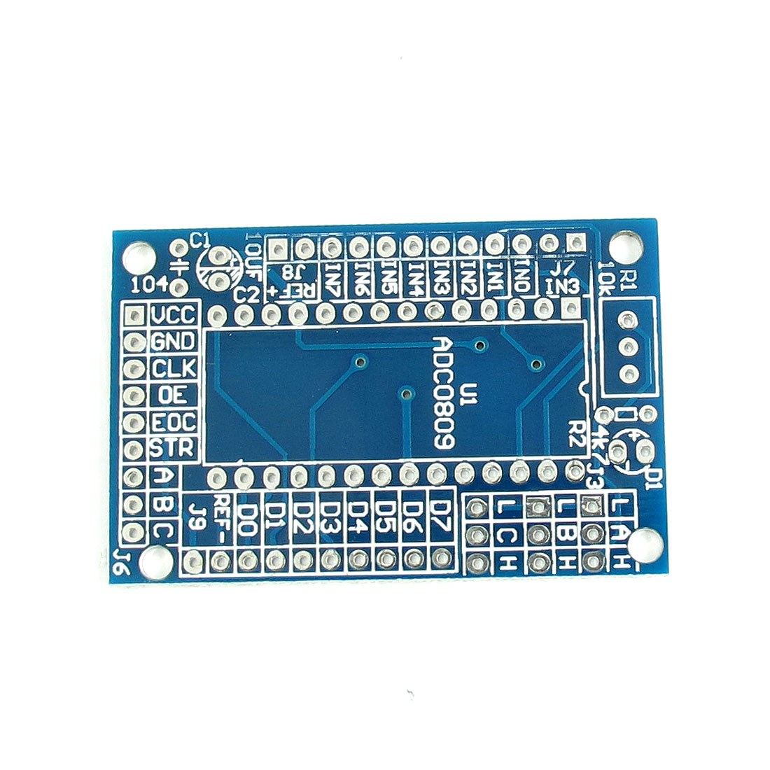 ADC0809 8-Bit Analog to Digital A/D Converter Module Printed Circuit Blank Board 52mmx34mm