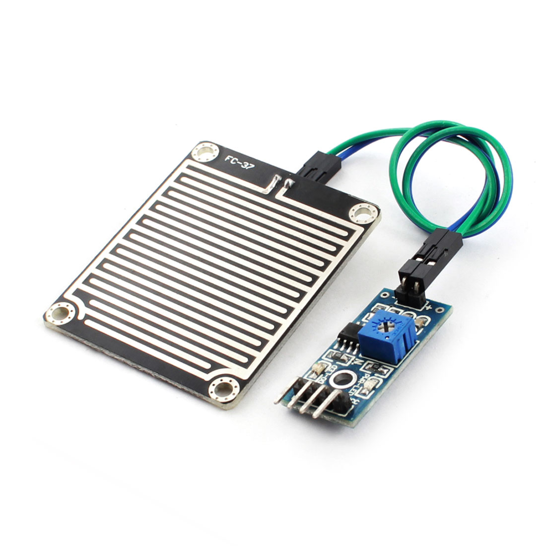DC 3.3V-5V Rain Raindrop Water Level Humidity Detection Sensor Module PCB Board