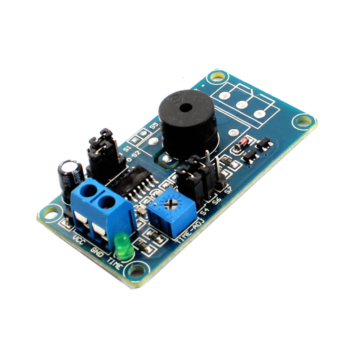 DC 12V 0.13s-3700s Adjustable Time Delay Alarm Device Buzzer Module for DIY Circuit