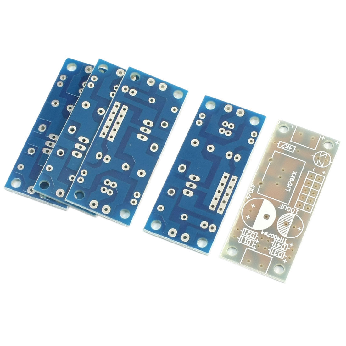 5Pcs L7805 L7824 L7812 3-Terminal Single Side Voltage Regulator Stabilization PCB Board for 78xx Series IC