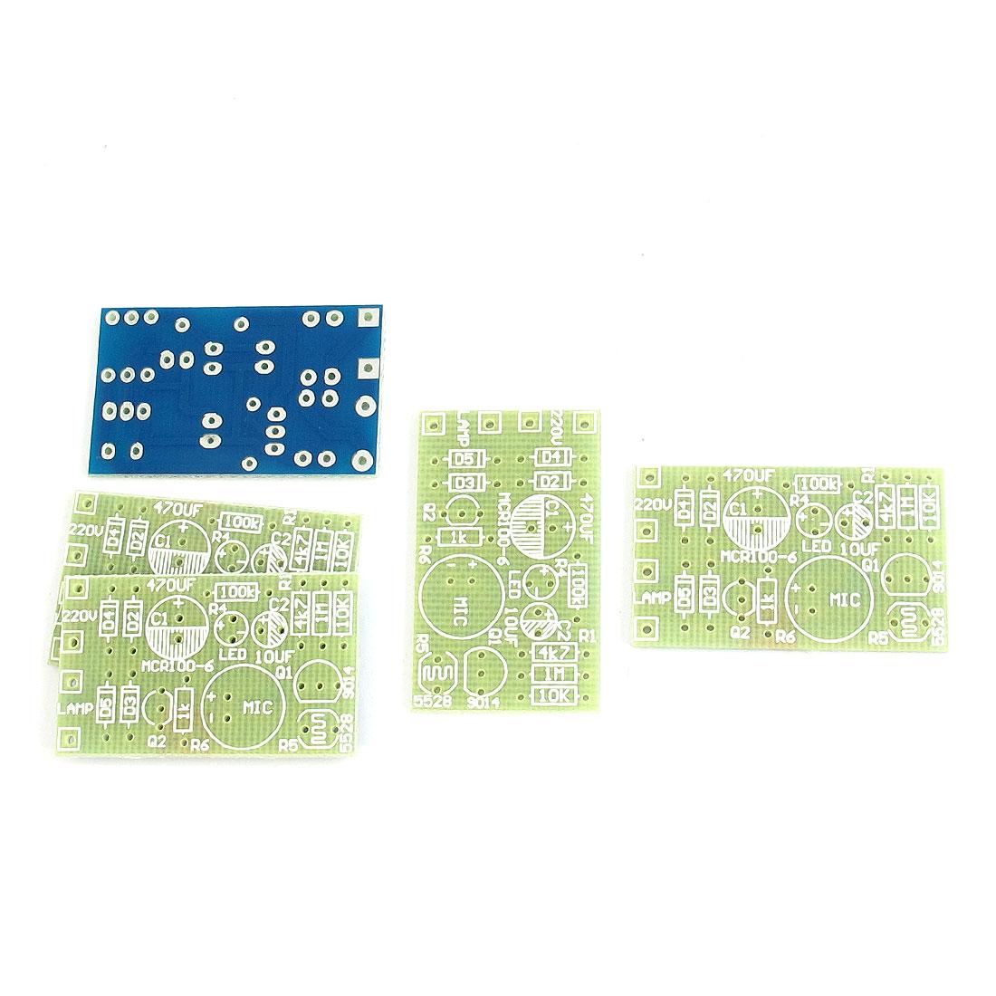 5 Pcs 37mm x 22mm Light Sound Sensor Control Delay ON/OFF Module Switch PCB Blank Board